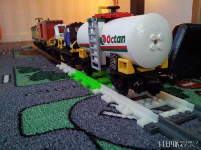 乐高玩具火车车轨 3D打印模型渲染图