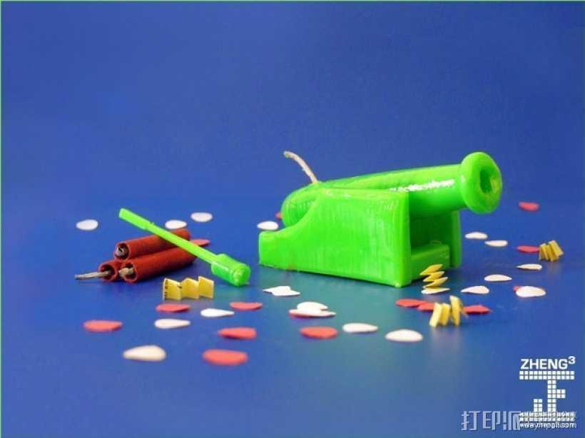 迷你机关炮 3D打印模型渲染图