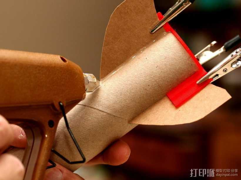 火箭筒夹具 3D打印模型渲染图