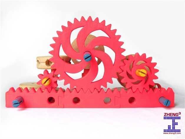 Tinkeriffic齿轮 3D打印模型渲染图