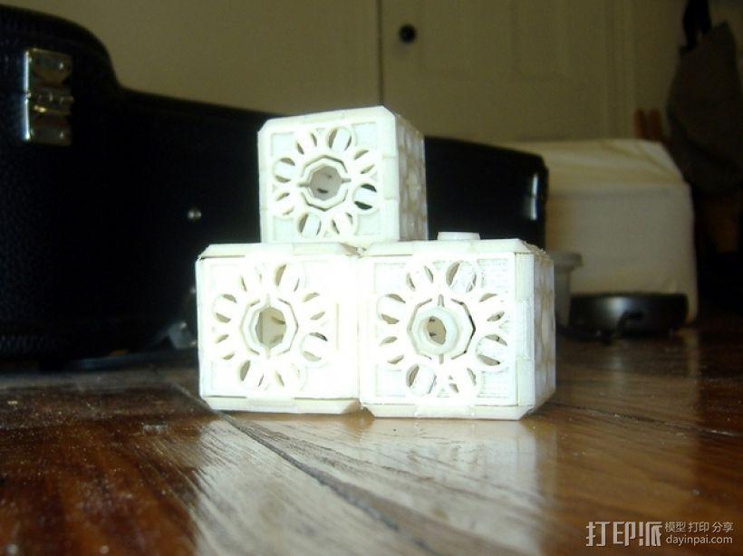 鸠尾榫立方体 3D打印模型渲染图