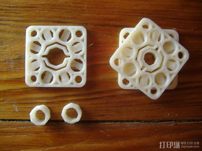 对称联轴器 3D打印模型渲染图