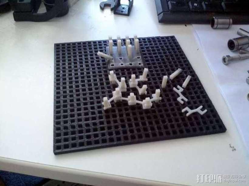 双人战略棋牌游戏 3D打印模型渲染图