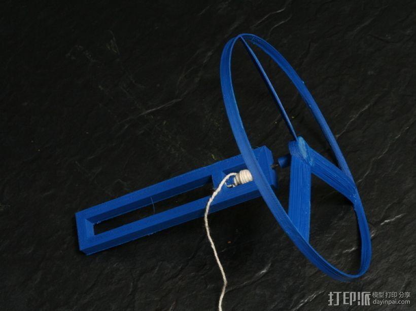 旋转飞行器 3D打印模型渲染图
