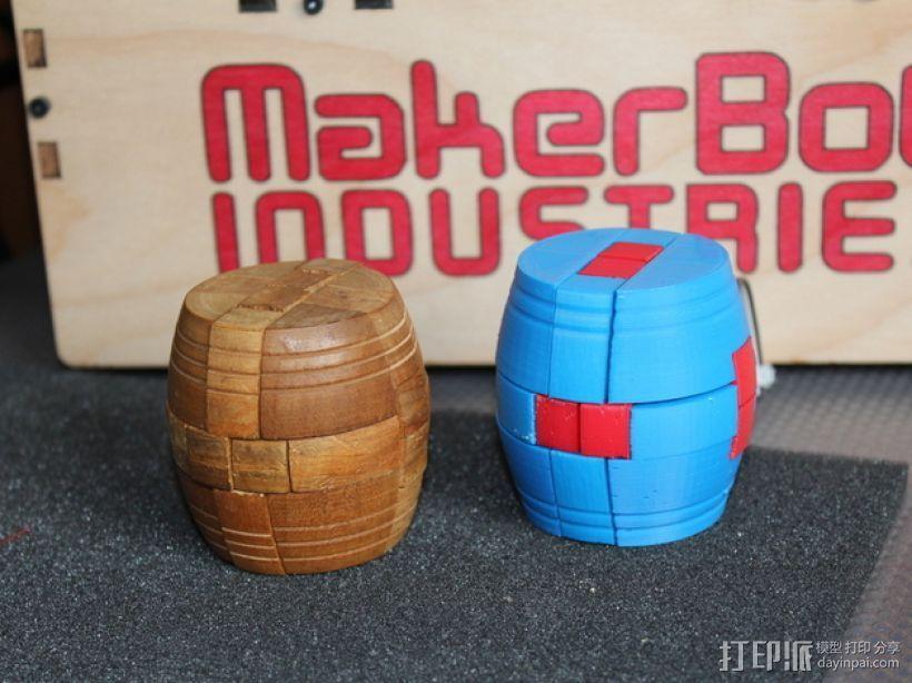 木桶拼图 3D打印模型渲染图