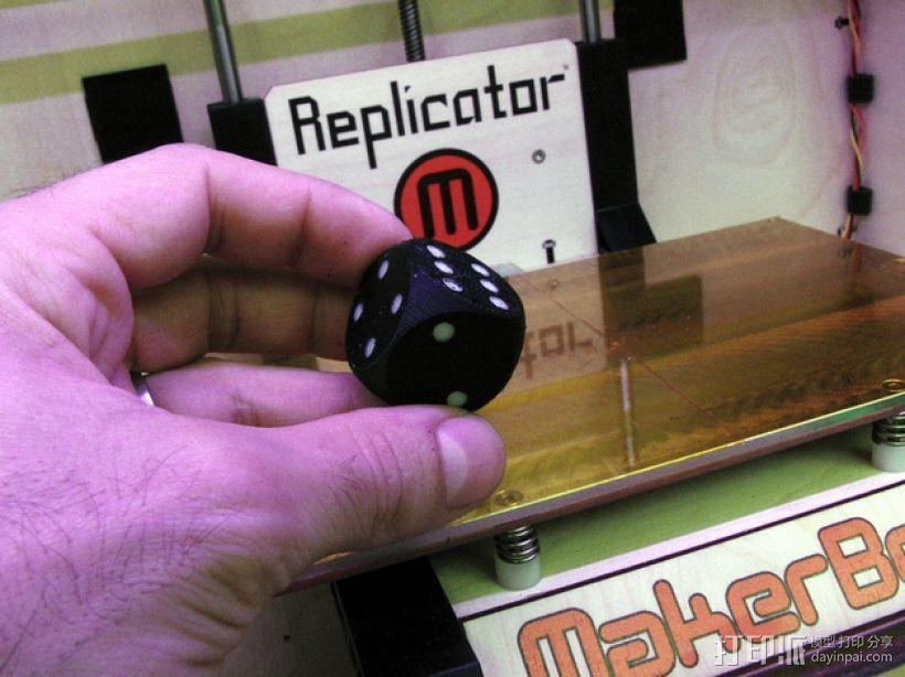 彩点骰子 3D打印模型渲染图