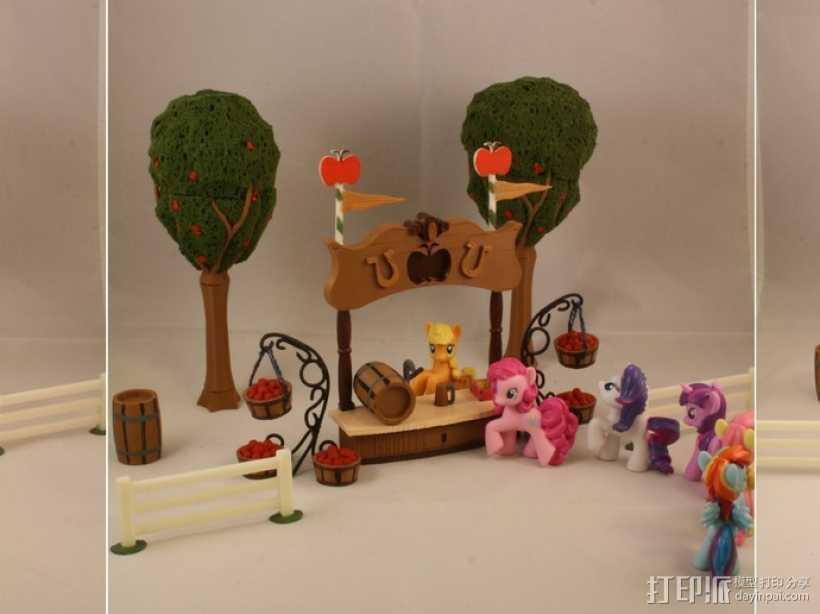 孩之宝小马玩具套件 3D打印模型渲染图