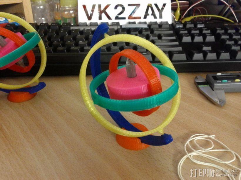陀螺仪 3D打印模型渲染图