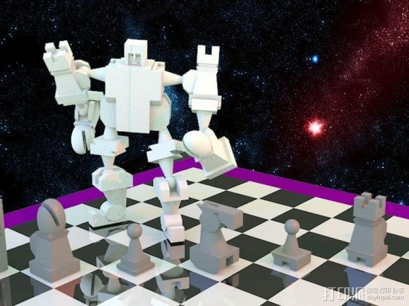 战斗型象棋 3D打印模型渲染图
