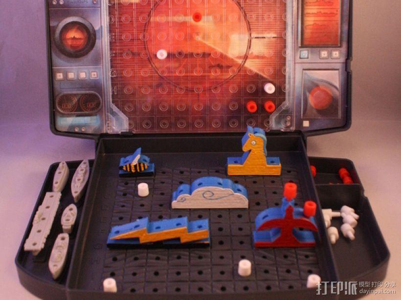 《Battleship》游戏零件 3D打印模型渲染图