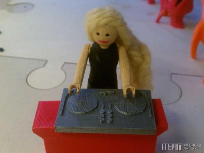 迷你少女模型 3D打印模型渲染图