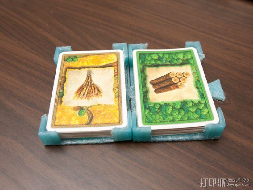 游戏卡卡片夹 3D打印模型渲染图