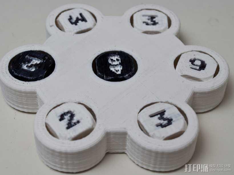 骰子游戏 3D打印模型渲染图