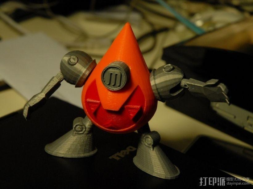 曼波机器人 3D打印模型渲染图