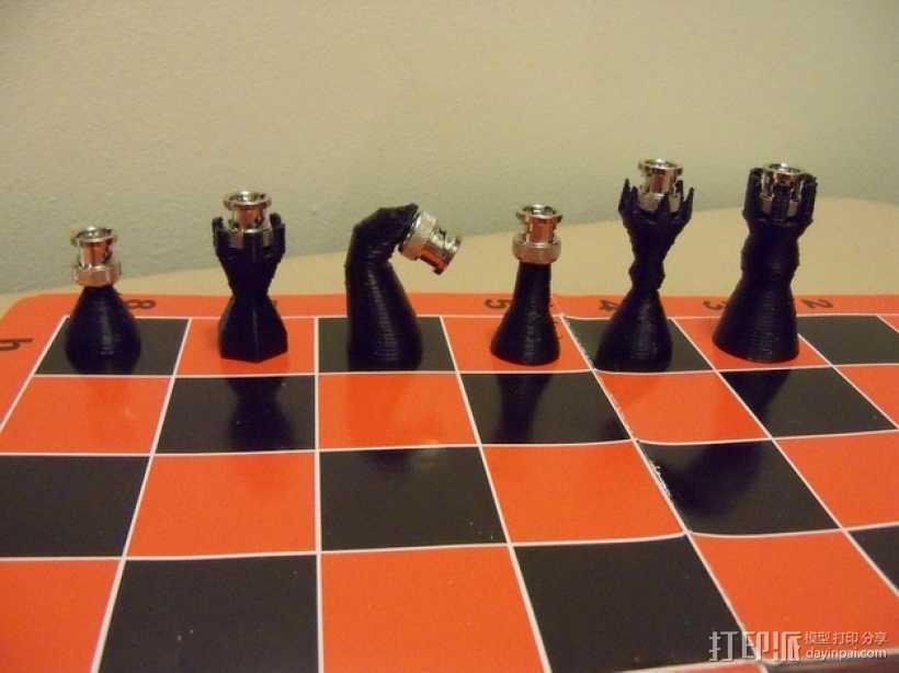 BNC象棋 3D打印模型渲染图