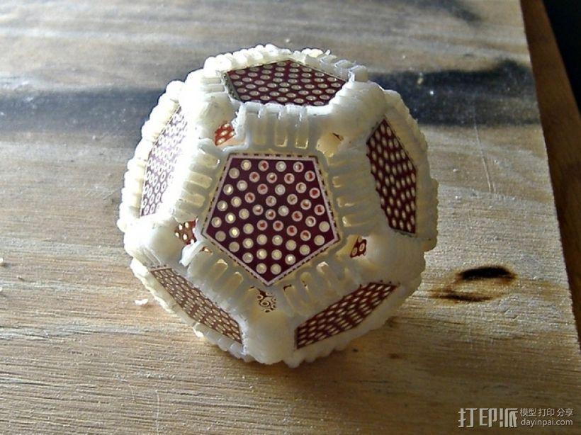 十二面球体 3D打印模型渲染图