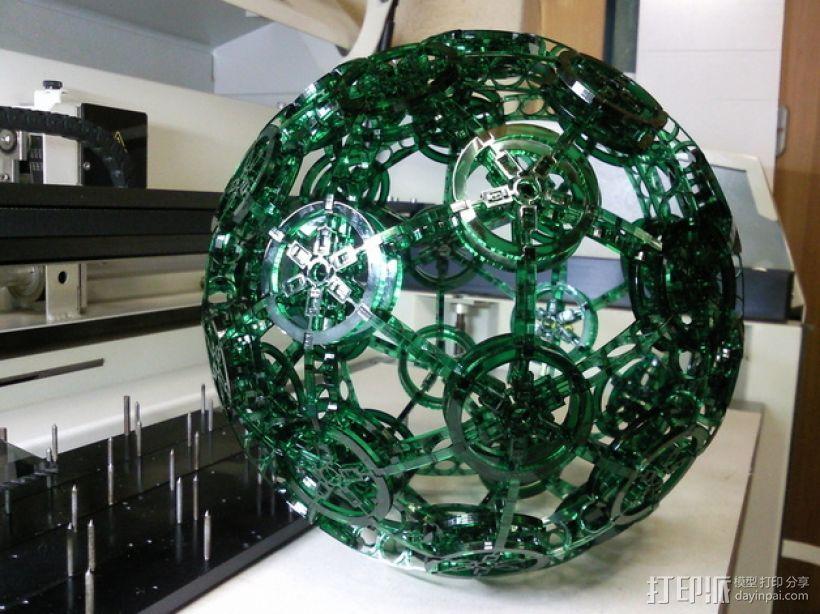 有机玻璃球 3D打印模型渲染图