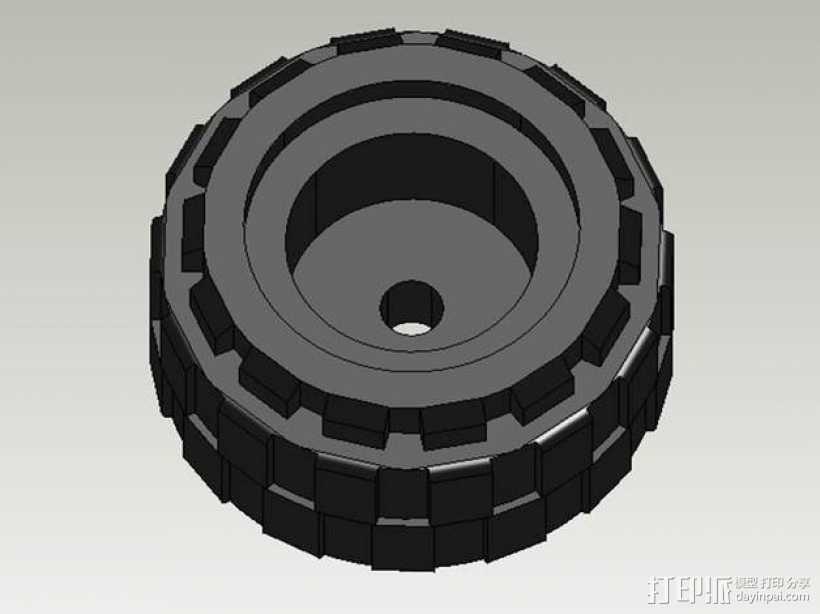 乐高轮胎 3D打印模型渲染图