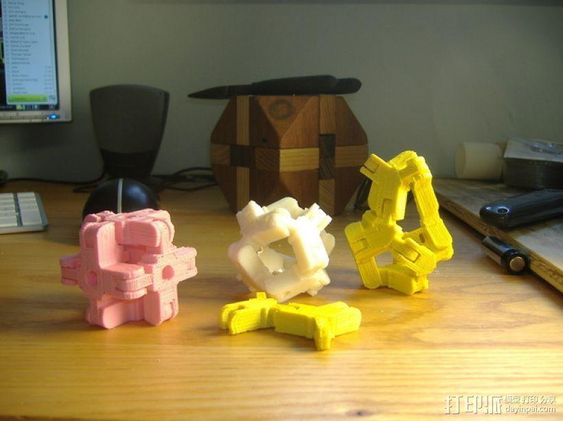 迷你组装多面体 3D打印模型渲染图