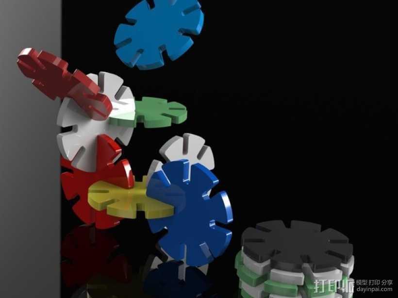 带插槽方块 3D打印模型渲染图