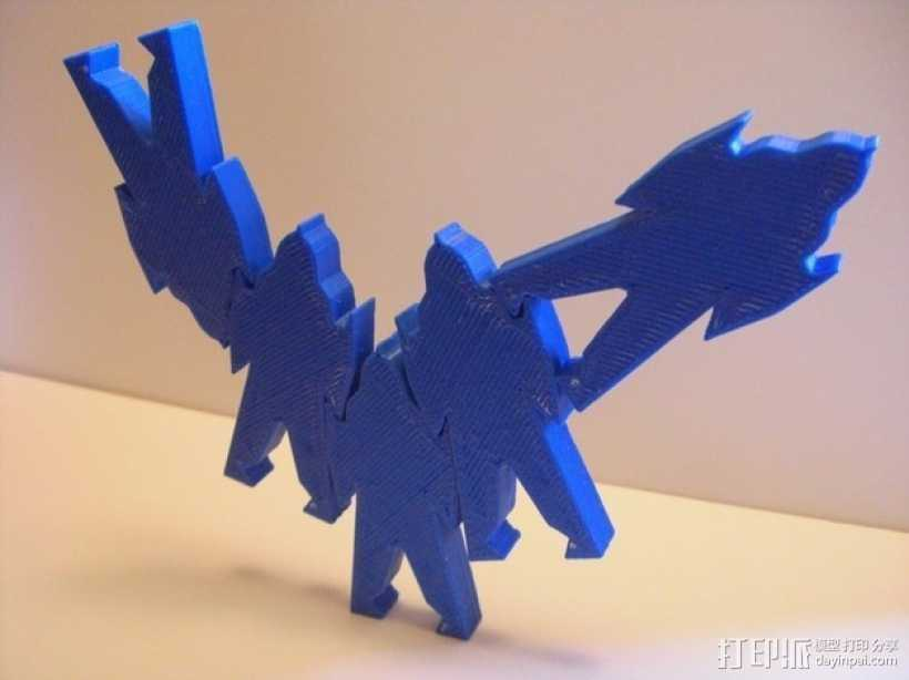带卡槽机器人 3D打印模型渲染图