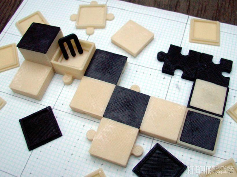 游戏联锁卡片 3D打印模型渲染图