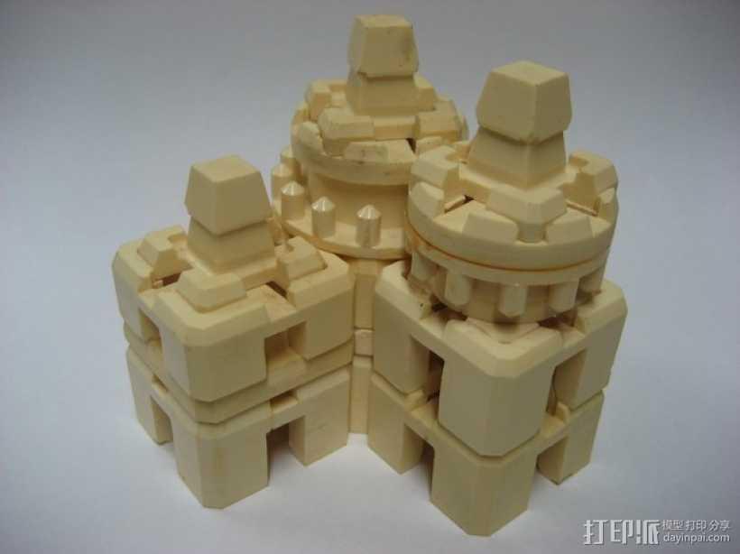 模块化方块 3D打印模型渲染图