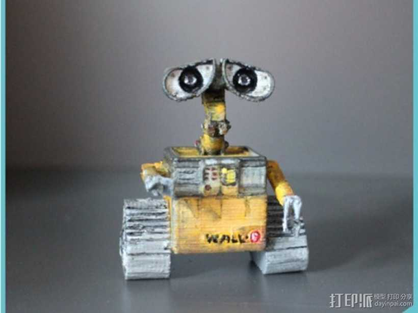 机器人瓦力 3D打印模型渲染图