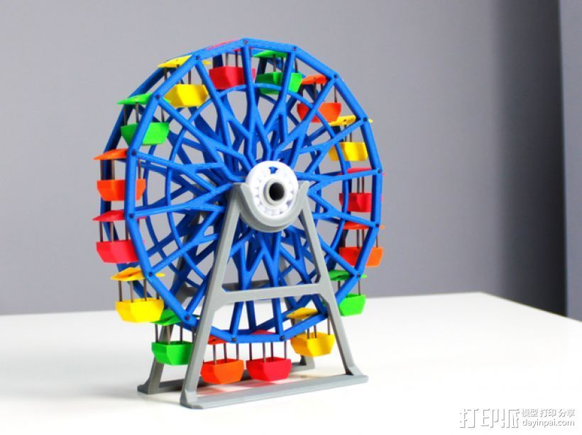 摩天轮 3D打印模型渲染图