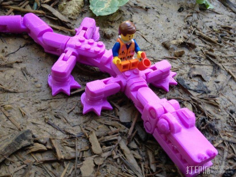 鳄鱼玩具 3D打印模型渲染图