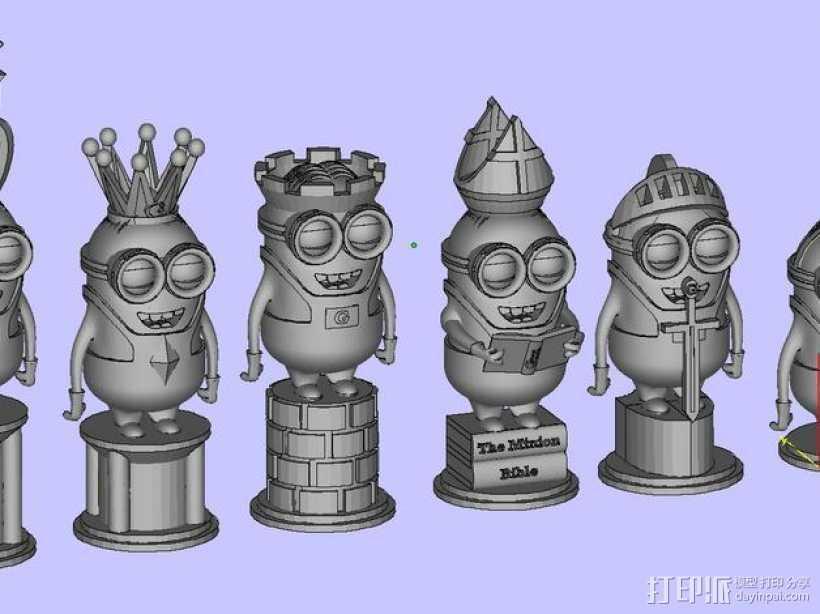 人偶象棋 3D打印模型渲染图