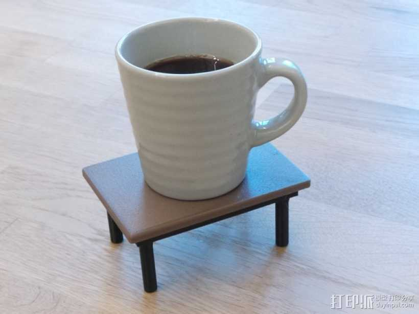 咖啡杯托盘 3D打印模型渲染图