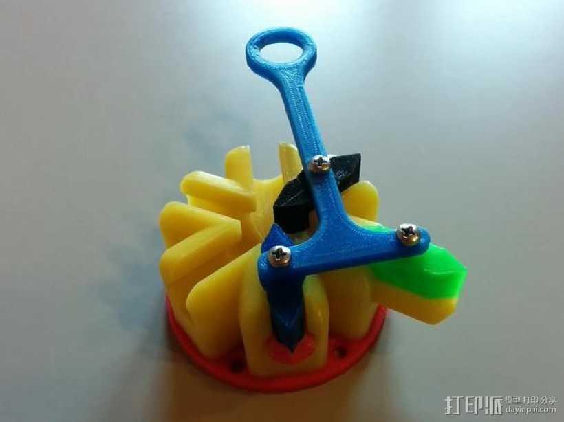 阿基米德梁规 3D打印模型渲染图