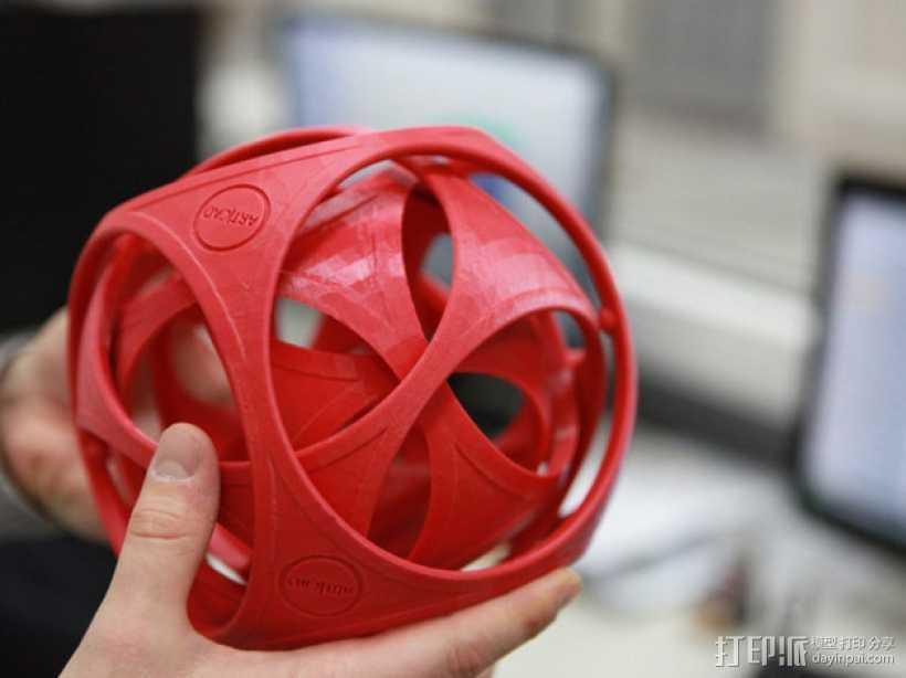 陀螺魔方 3D打印模型渲染图