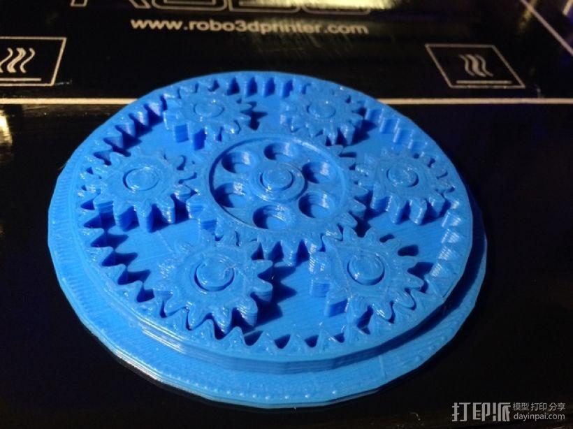 齿轮玩具 3D打印模型渲染图