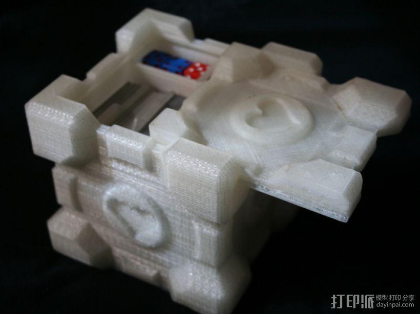 双层立方体 3D打印模型渲染图