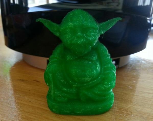 尤达大师佛像 3D打印模型渲染图