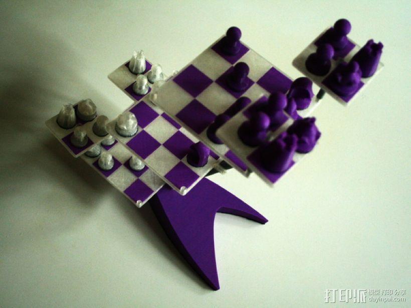 便携式象棋 3D打印模型渲染图