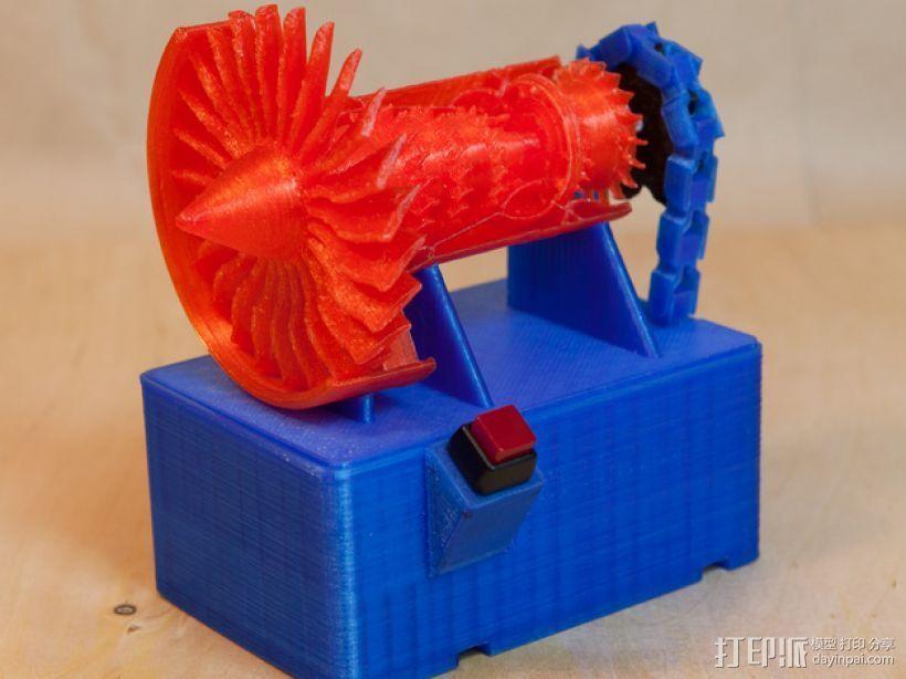 喷气式电动机 3D打印模型渲染图