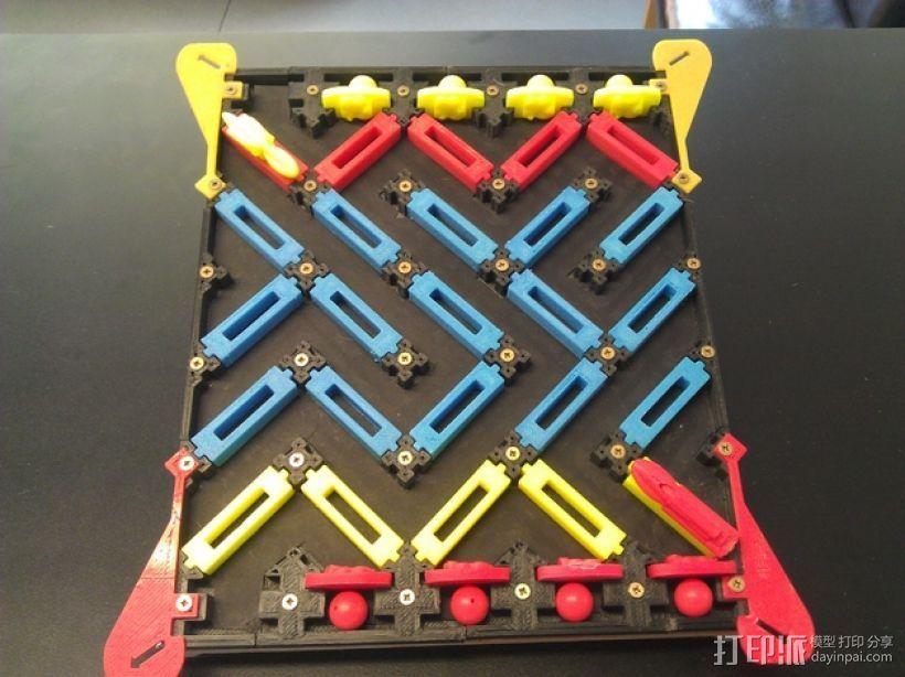 3D打印的棋盘游戏 3D打印模型渲染图