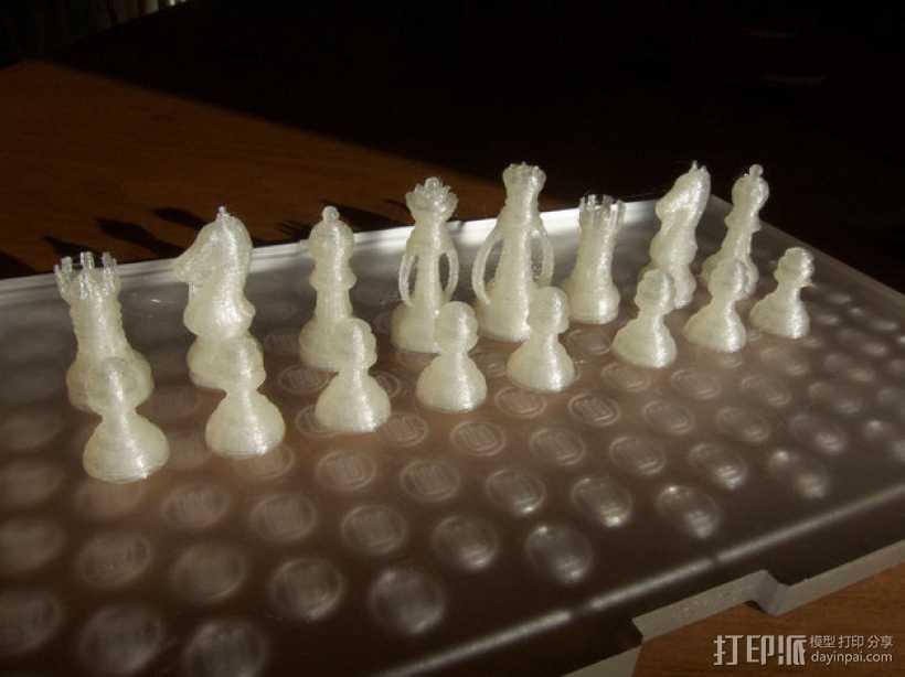 经典象棋 3D打印模型渲染图