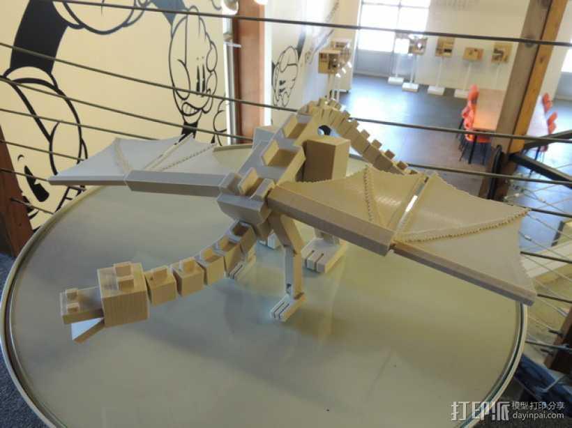 末影龙 3D打印模型渲染图