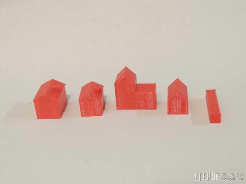 桌游零部件 3D打印模型渲染图