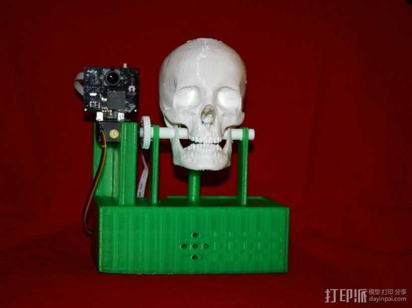 会说话的骷髅头 3D打印模型渲染图
