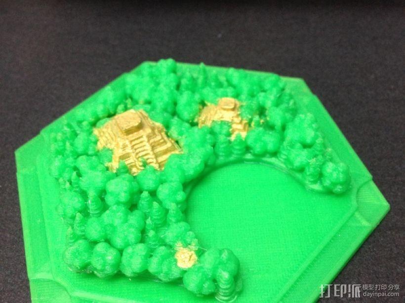 《卡坦岛》丛林 3D打印模型渲染图