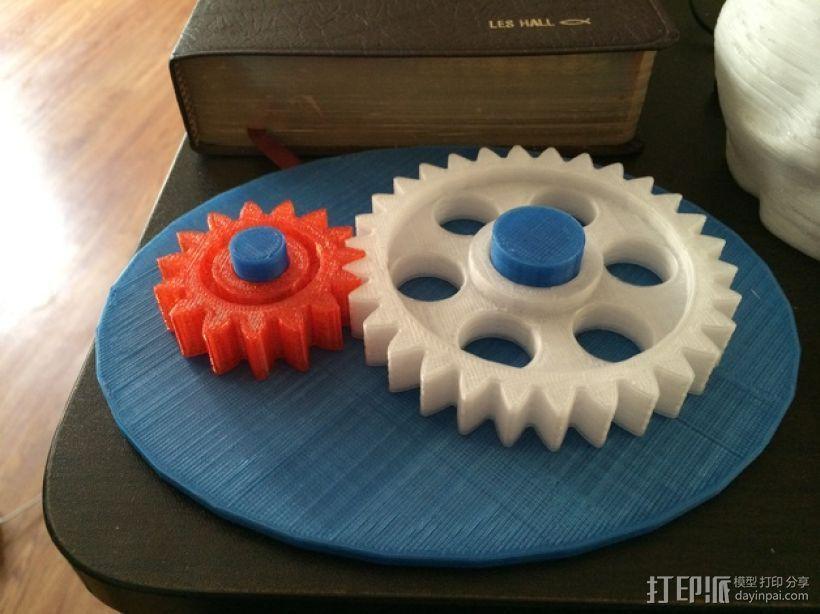 齿轮玩具1 3D打印模型渲染图
