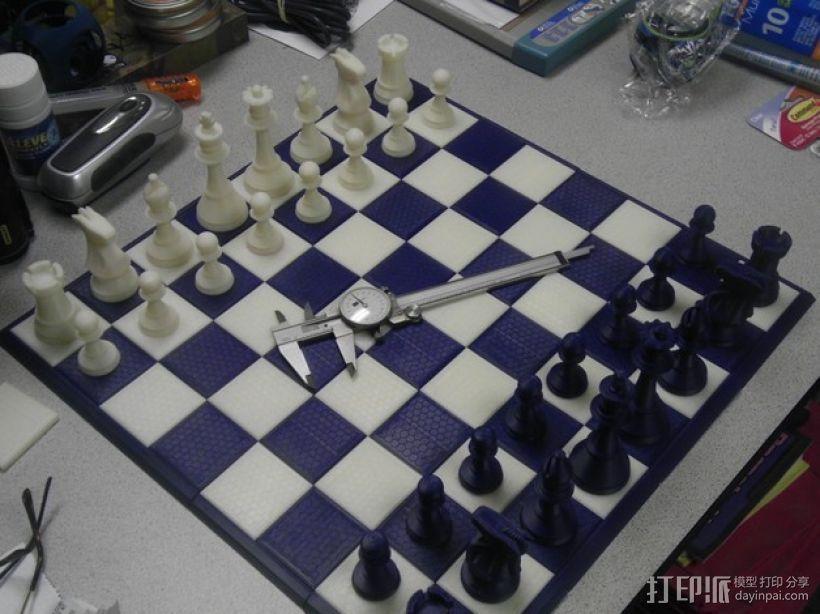 经典象棋套件 3D打印模型渲染图