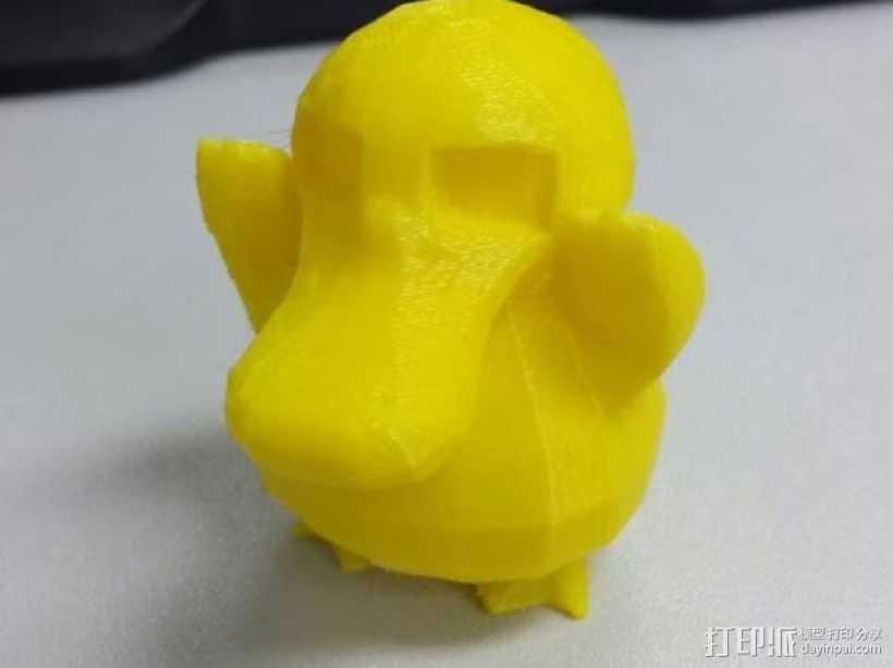 可达鸭 3D打印模型渲染图