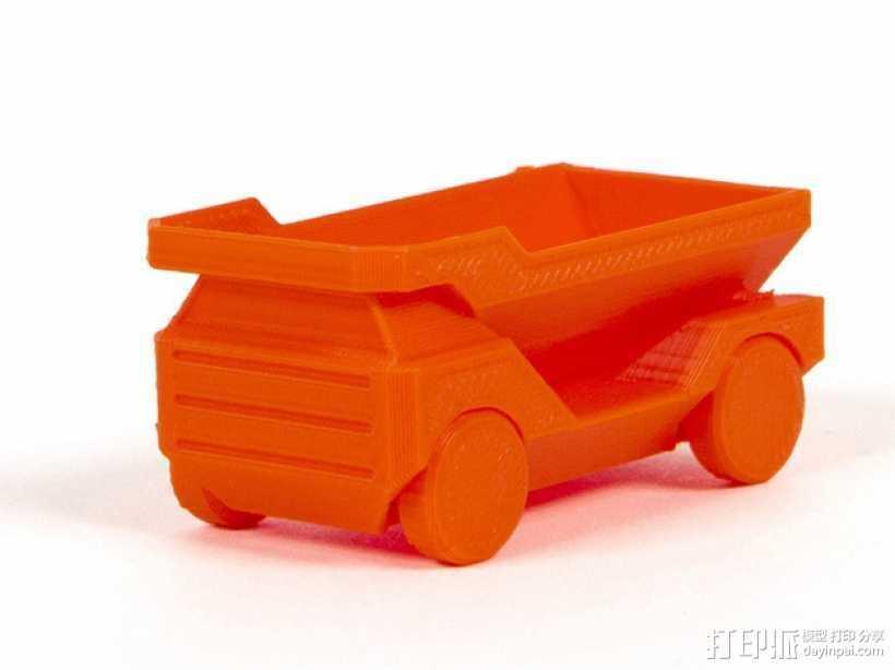 自动倾卸卡车 3D打印模型渲染图