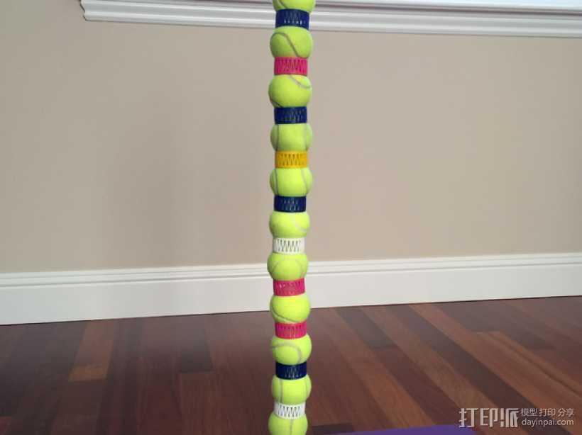 网球叠加玩具 3D打印模型渲染图